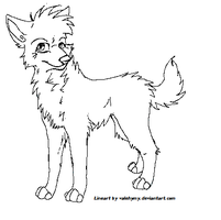 Free wolf lineart 2 by Valehymy