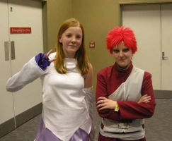 Lacus and Gaara by Cierafire