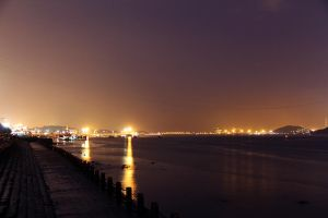 City lights on the water by CathyDong