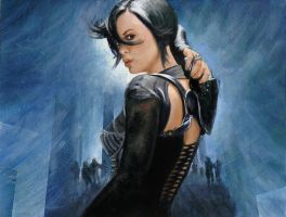 Aeon Flux - Speed Painting by Keriberrygirl