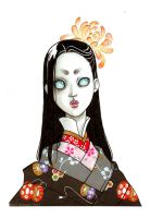 Doll-Face in a lot of kimonos by kafine