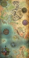 Guild Wars Antique Map by Jenosavel