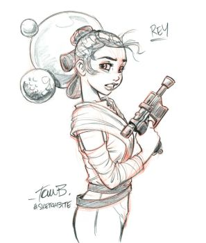 Rey from Star Wars by tombancroft