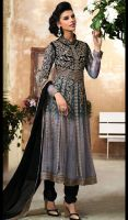Black-and-Gray-Chiffon-Viscose-Embroidered-Anarkal by Sofia2211