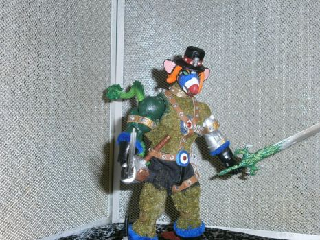 PackRat MotU Custom Action Figure side view Gore57 by BooRat