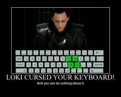 Loki Keyboard Motivator by imaphantomfan