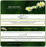 Daisy Journal Skin by as-red-as-fire