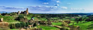 Panorama of Tuscania, full by Tiris76