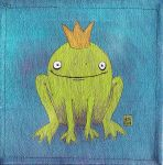 Little Frog with a Crown by akhira