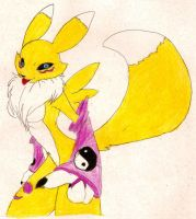 Renamon 27 color by luvini