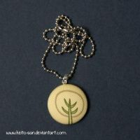 Stylised Tree Fabric Necklace by Keito-San
