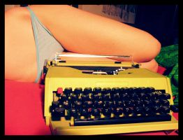 the ostrich and the typewriter by ladyshave