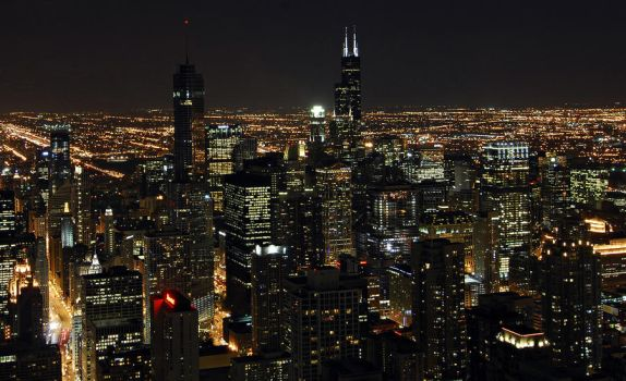 Chicago at night by maxlake2