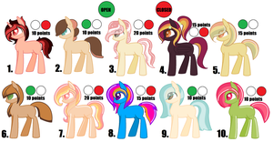 ~*Pony Point Adopts*~ Set 2 by GleamyDreams