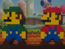 Mario and Luigi by LegoEpic