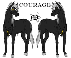 Courage - Character Sheet by Aspi-Galou