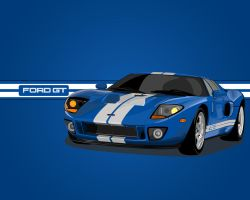 Ford GT Vector Blue by V3ct0r