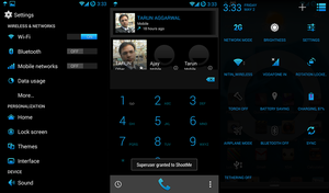 CM11 Theme Neon Blue Updated by nitinvaid20