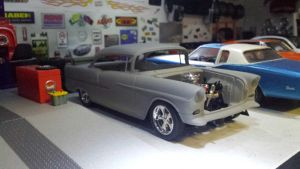 working on a 55 Bel Air by themodelist