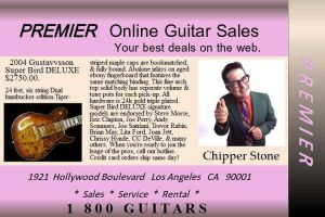 Premiere Guitar Sales by Duganrox