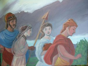 Oil Study: Four Deities