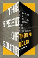 Thomas Dolby THE SPEED OF SOUND Bookjacket by PaulSizer
