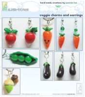 Veggie Charms Collage 1 by junosama