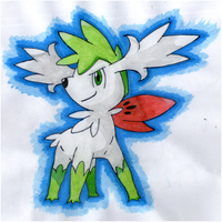 Shaymin (Sky Form) by twilightlinkjh