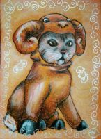 Chinese Zodiac Kitty - SHEEP by BlackAngel-Diana