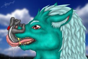 salvia wet body and tongue by ForcesWerwolf
