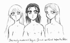 Elflings before the Valar by Tenshi-Androgynous