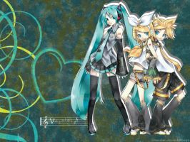 Vocaloid Wallpaper by shlee-chan
