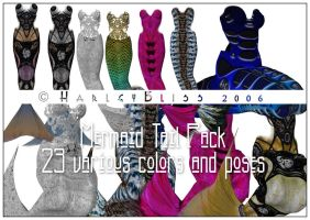 Mermaid Tail Pack by HarleyBliss