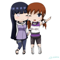 Point commission: Hinata and shinko chibi by Ivy-Desu