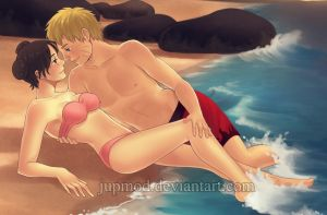 NaruTen: Sunset Beach Love Ver1 by JuPMod