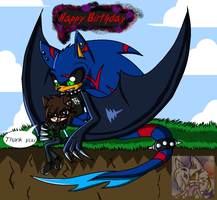 Gift Art - Happy Birthday Blueangelrose by SonicSonic1