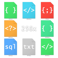 Simple and colorful icon files for web text files by TxusMetal4ever