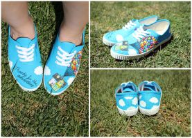 UP: handpainted canvas shoes by purpleniya