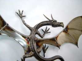 Wall Mounted Dragon close up by verymetal