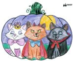 Aristocats pumpkin by night-elfy