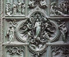 Milan's Duomo - door detail 1 by wildplaces