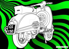 Gs Vespa  Op Art by amoebabloke