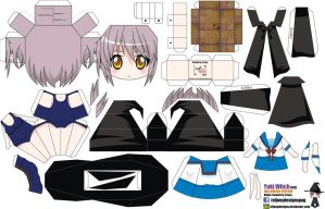 Yuki Nagato Witch (Joey's Chibi Girls 017B) by ELJOEYDESIGNS