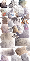 A BUNCH OF SKETCHES by giinga