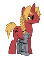 Edward Elric Pony by LemonNinja