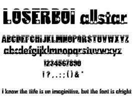 loserboi allstar font by 8hashbrowns