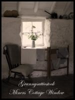 Miners Cottage Window by GRANNYSATTICSTOCK