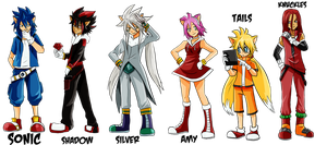 Sonic Chaos-Gijinka cast part 1 by Limbonix