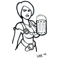 Beer Wench Sketchcard by whipsmartbanky