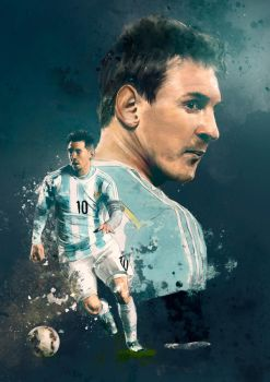 Sport illustration - Messi by IgnacioRC